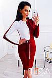 """Женское двухцветное платье """"Инь-Янь"""" (3 цвета), фото 2"""