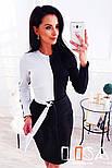 """Женское двухцветное платье """"Инь-Янь"""" (3 цвета), фото 3"""