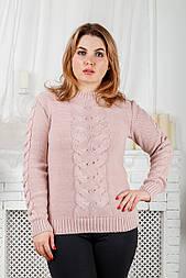 Женский свитер с большой косой, 46-52