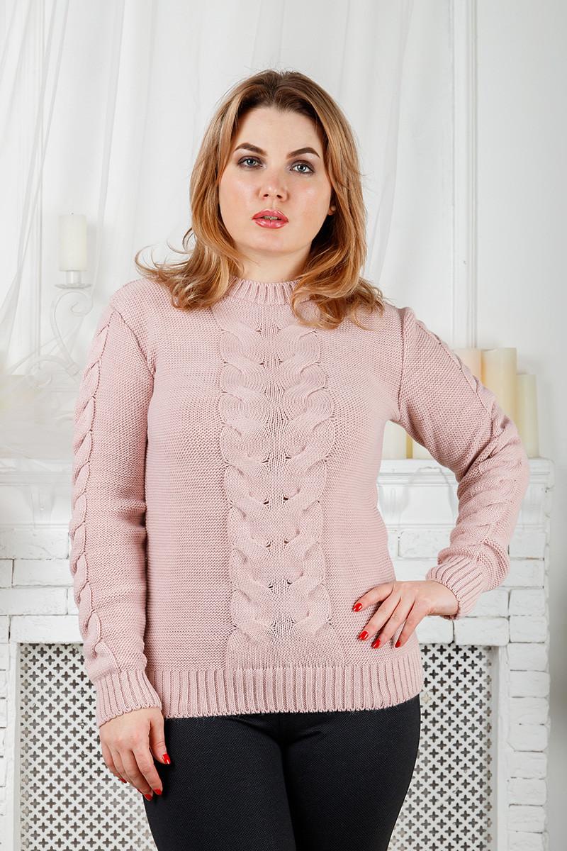 Женский свитер с большой косой, 44-48