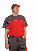 Бейсболка хлопок Červa Desman серая с оранжевым, фото 3
