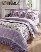 Постельное белье Karaca Mina лиловый Двуспальный евро комплект