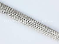 Стебельки для цветов — Серебро - (№26) - Ø0,45 мм - L36 см - 200 шт.