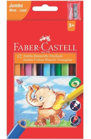 Трехгранные цветные карандаши Faber Castell JUMBO 116501 (12 цв.)