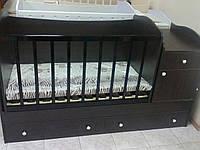 Кроватка-трансформер для новорожденного и до 12 лет!Люлька,тумба,парта