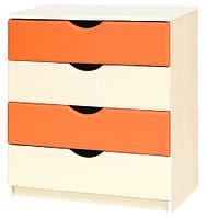 """Комод в дитячу  """"Саванна"""" від Світ меблів (оранж)."""