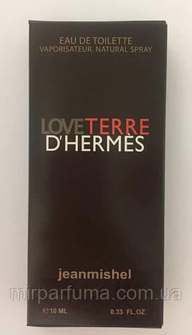 Мужские мини духи jeanmishel Love Terre D`Hermes 10ml оптом, фото 2