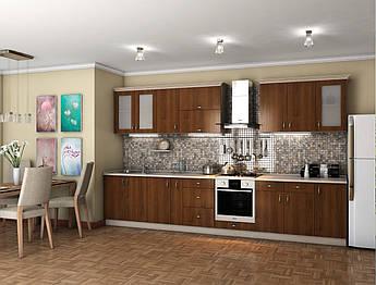 Кухня Модест Орех болонья темный 2м