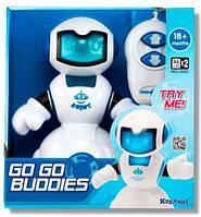 Робот на дистанционном управлении 59969  Keenway белый светиться ездит вперед назад в коробке