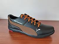 Туфли мужские с коричневой полосой, фото 1