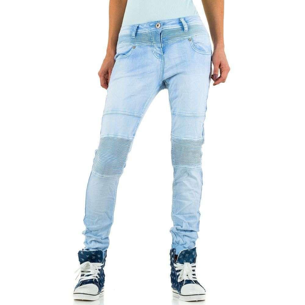 Женские джинсы от Mozzaar - синий - KL-J-C9304-21-blue