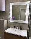 Квадратное зеркало с подсветкой по бокам, фото 2