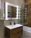 Квадратное зеркало с подсветкой по бокам, фото 3