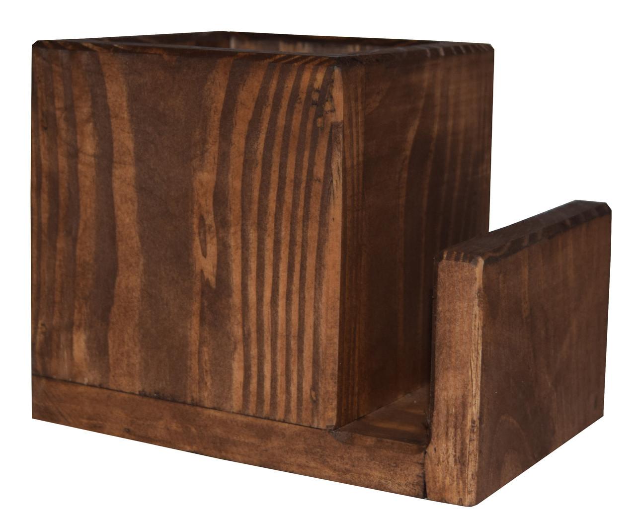 Деревянный лоток для столовых приборов  Pranzo  подставка под ложки вилки  цвет - капучино