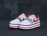 Кроссовки женские Vandal 2K White blue red. Живое фото, фото 2