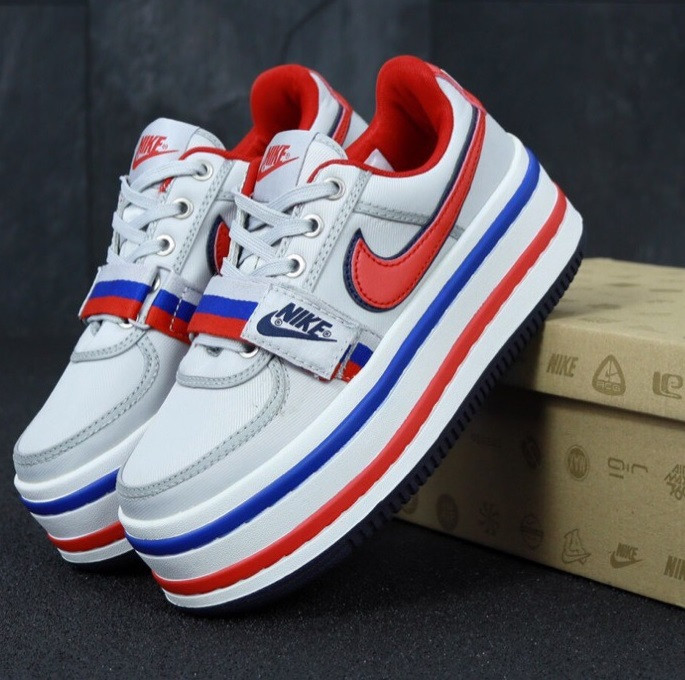 Кроссовки женские Vandal 2K White blue red. Живое фото