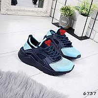 Кроссовки женские синий + голубой Код: а6737