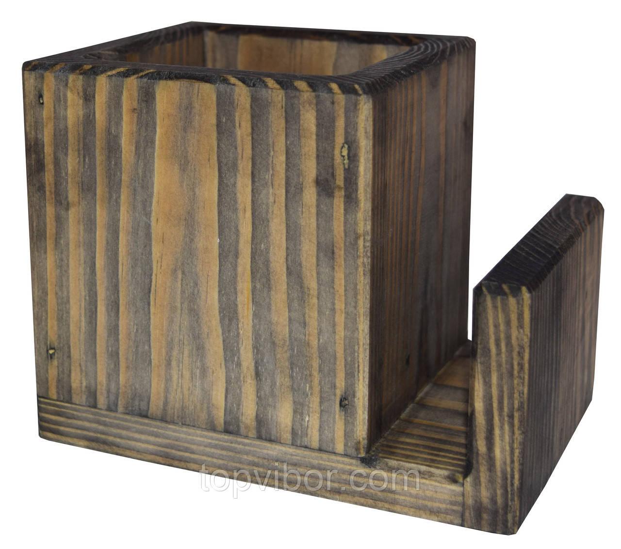 Подставка под столовые приборы, Пранзо, контейнер для ложек и вилок, цвет - морион