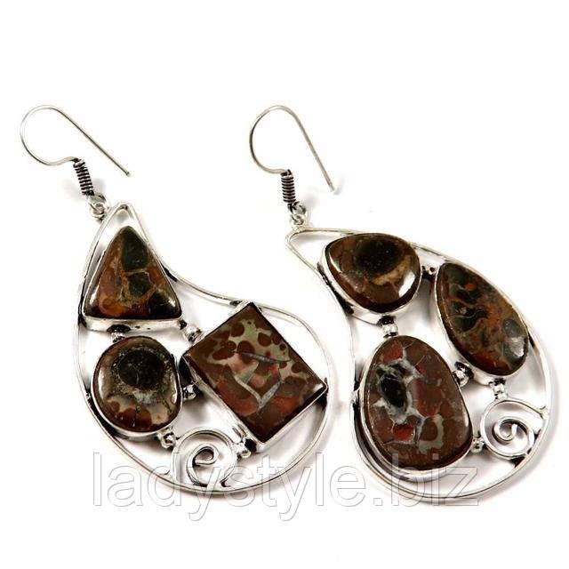 септария серебро купить серьги ювелирные украшения подарок