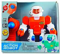 Робот Keenway Action Robot на радиоуправлении Красный  светящиеся глаза движение вперед назад со звуками