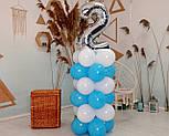"""Композиція з повітряних кульок """"Стійка з цифрою """"1"""" Насос у комплекті, фото 3"""