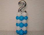 """Композиція з повітряних кульок """"Стійка з цифрою """"1"""" Насос у комплекті, фото 4"""