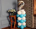"""Композиція з повітряних кульок """"Стійка з цифрою """"1"""" Насос у комплекті, фото 5"""