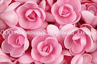 Вафельные цветы «Розы малые розовые» 160 шт