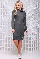 💧️Красивое серое платье прямого кроя / Размер M, L, XL ,XXL / P11А6В1 - 2823