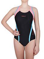 Купальник спортивный женский для плавания Rivage Line 8674, черный