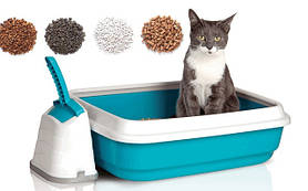 Наполнители для туалетов, туалеты для кошек.