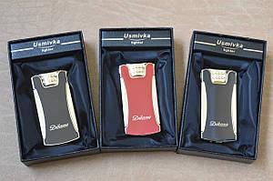Электроимпульсная зажигалка Практичная зажигалка подарочная  H33190  ( ЮСБ ) Чёрная, красная, коричневая