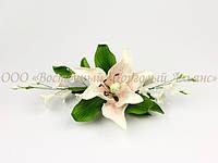 Букет из мастики - Лилия бело-розовая L260