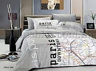 Постельное белье Le Vele Paris map Двуспальный евро комплект