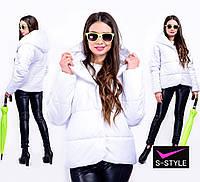 Ультрамодная короткая куртка с капюшоном супер батал, фото 1