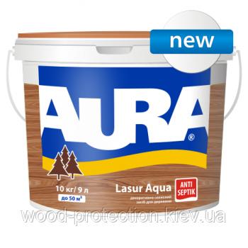 Декоративно-захисний засіб для деревини Aura Lasur aqua білий 2,5 л.