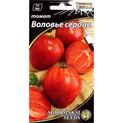 """Семена томата, высокорослого, для открытого грунта и теплиц """"Воловье сердце"""" (0,1 г) от Agromaksi seeds, фото 2"""