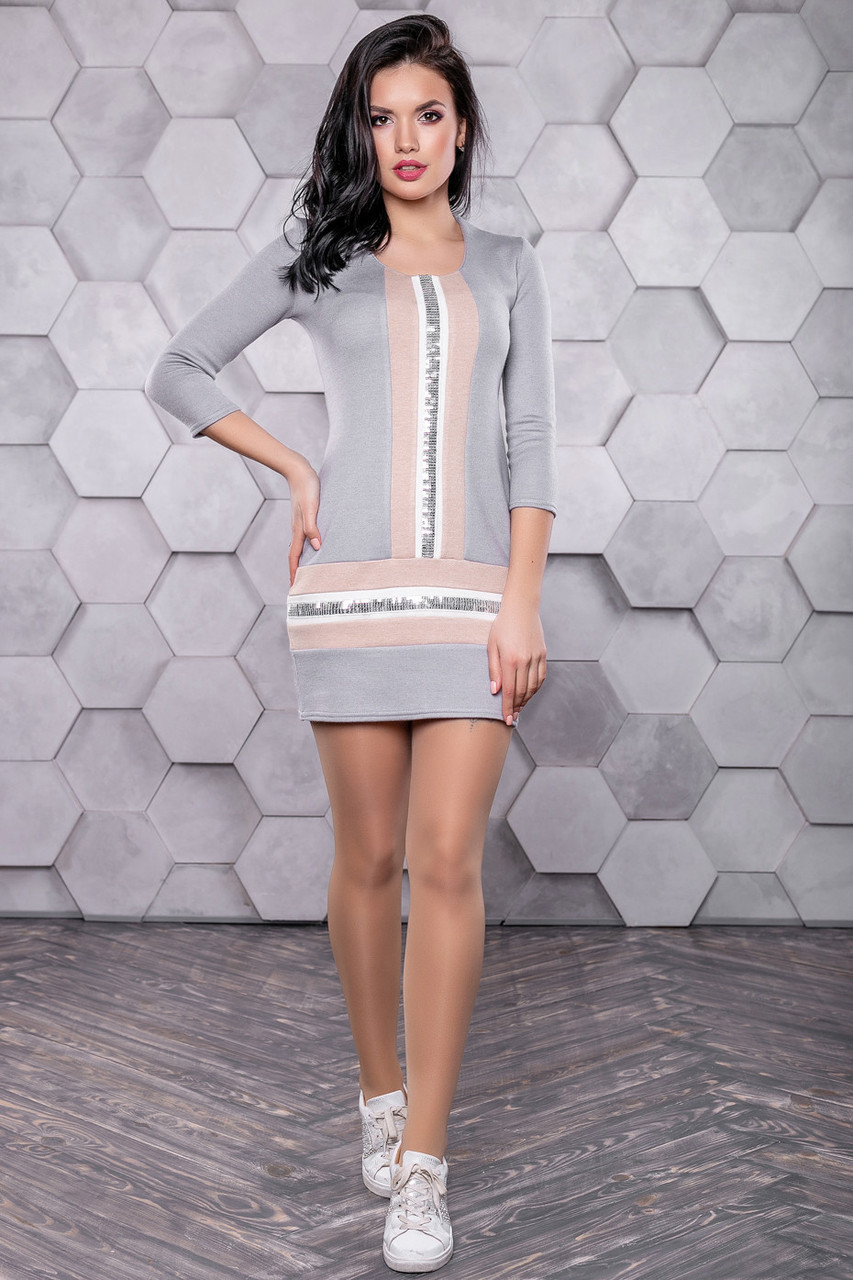 8618473c9ff ◼️Ангоровое платье с пайетками   Размер S M L   Код P21А6В1 - 3156 ...