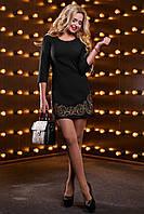 💧️Эксклюзивное короткое платье черного цвета / Размер S, M, L, XL / P11А6В1 - 2530