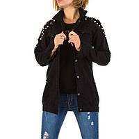 Джинсовая куртка черная с жемчугом Noemi Kent Paris (Франция) Черный