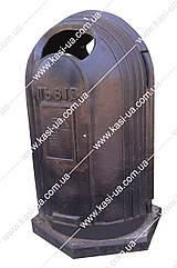 Уличная урна для мусора чугунная №5 (большая)