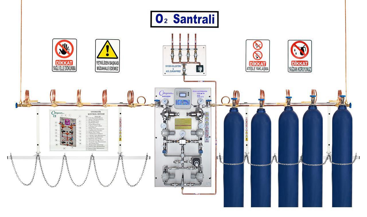 Баллонная рампа чистого азота