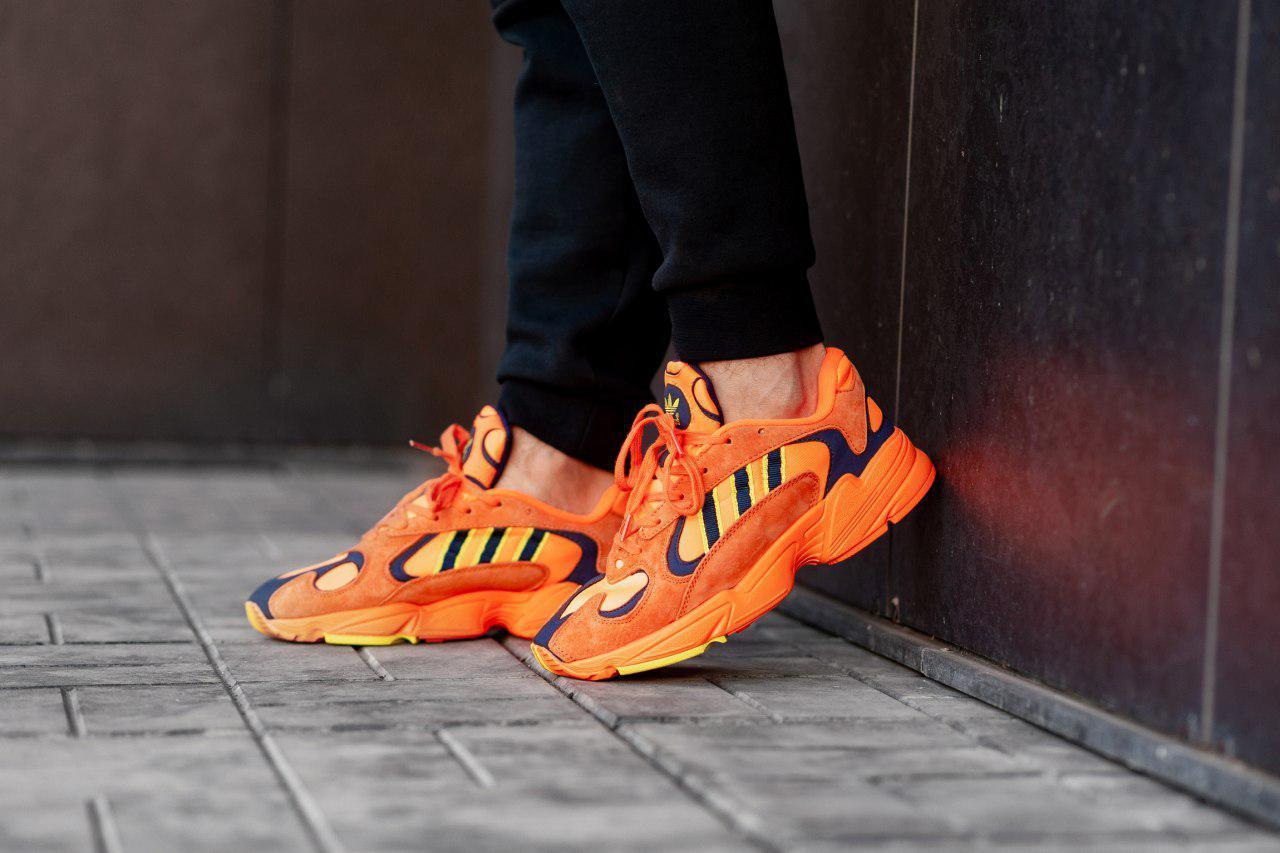 Мужские кроссовки в стиле adidas Yung 1 Orange (Реплика ААА+)