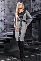 💧️Серое платье с кожаными вставками /Размер M L XL XXL / P11А6В1 - 2403