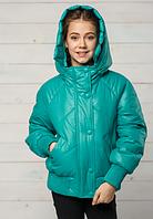 Модная демисезонная куртка для девочки с капюшоном «Натали»