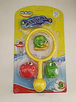 "Игрушки для купания ребенка ""Рыболов"" (сачок, игрушки брызгалки)"