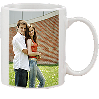 Печать фото на белой чашке