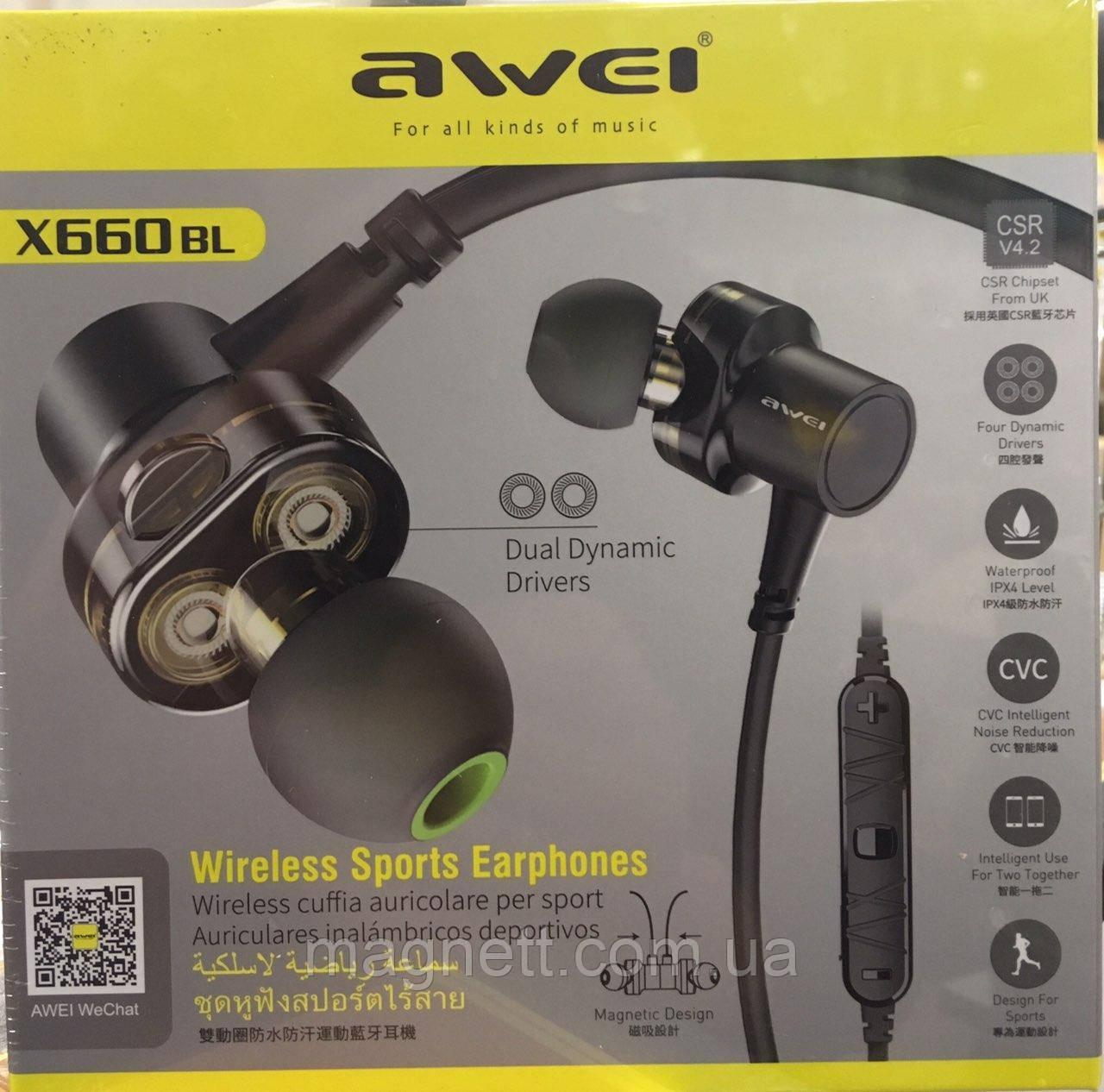 Беспроводные bluetooth наушники Awei X660BL