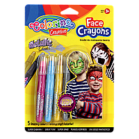 Карандаши для лица 5 цветов металлик, Colorino