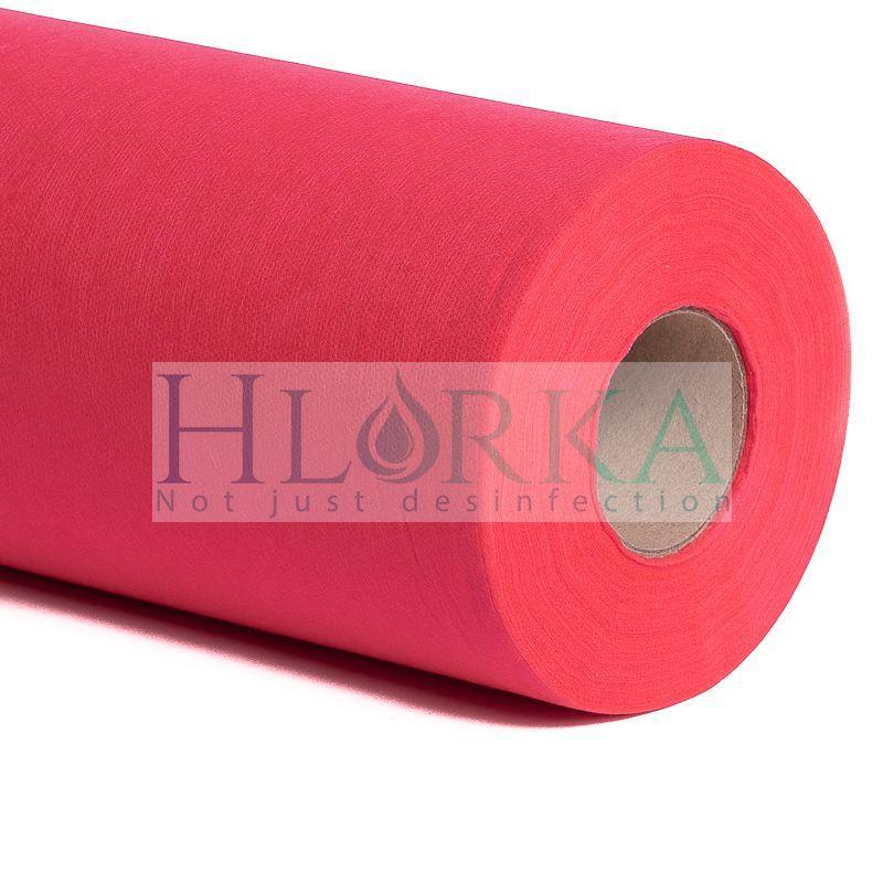 Одноразовые простыни 20 г/м² в рулоне 0.8*100 м., Красные К_ТЕКС